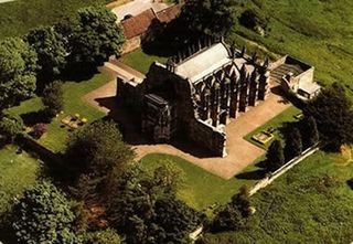 Rosslyn Chapel aerial
