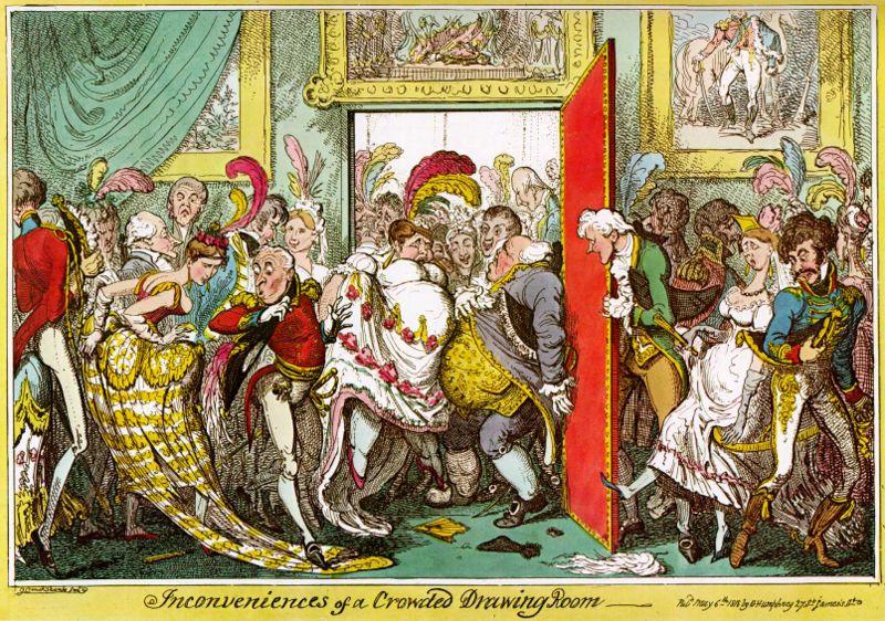 G-Cruikshank-Inconveniences-Crowded-Drawing-Room-1818-w