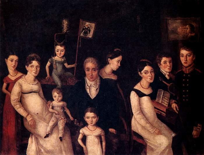 Portrait of the Benua Family-Olivier-w