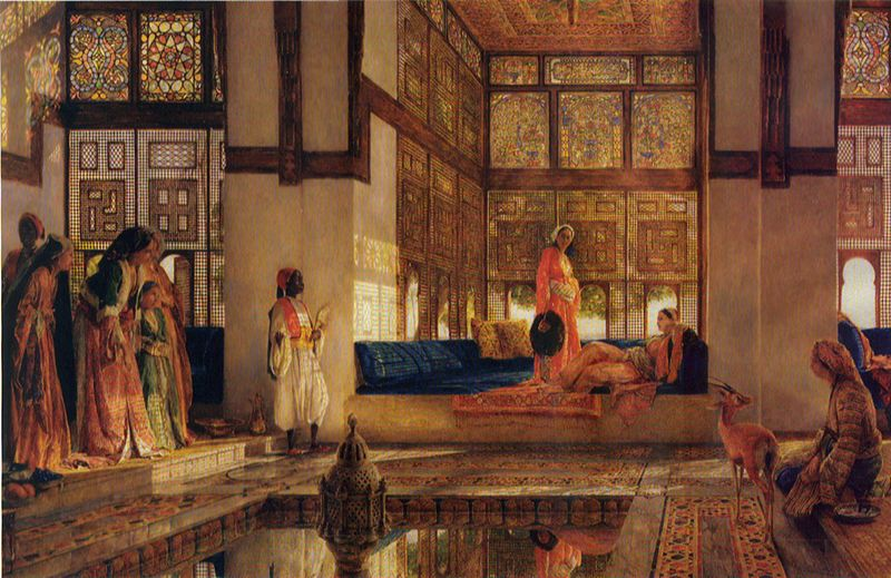 Harem reception-Lewis 1873-w