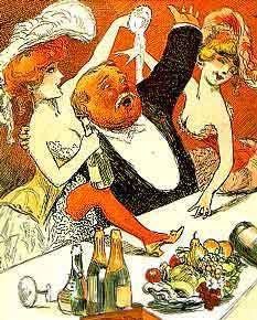 Vintage champagne art