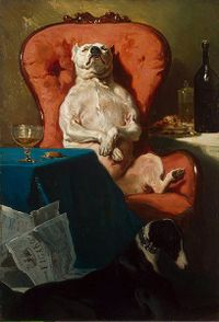 407px-Alfred_Dedreux_-_Pug_Dog_in_an_Armchair