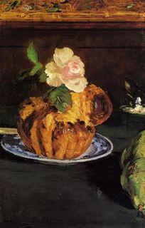Manet still-life-with-brioche