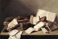 Still-life-of-books-jan-de heem