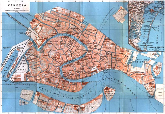 Word Wenches Viva Venice - Map of venice 1500