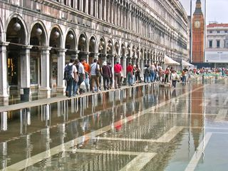 Flooding in St. Mark's Square