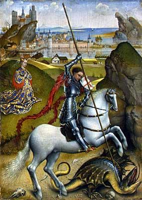 St g dragon van der weyden