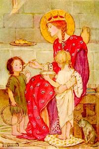 St. Margaret_feeding orphans