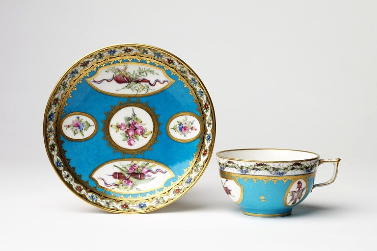 Sevres tea cup republican devices 1793 to 1800 v and a