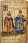 Margaret and Malcolm 16th c Seton Armorial
