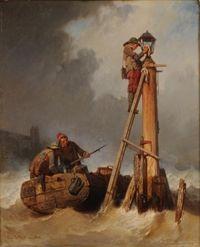 Lighting a lamp at sea 3 q c19 louvre