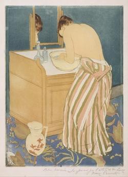 Cassat woman bathing