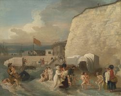 Benjamin west last quarter C18 the bathing place at Ramsgate