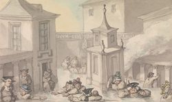 Rowlandson comforts of bath the bath
