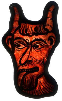 Glass fragment of devil
