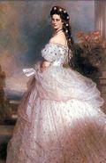 Worth gown--Empress Elizabeth of Austria