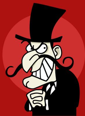 Cartoon villain