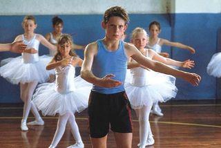 Billy in ballet class
