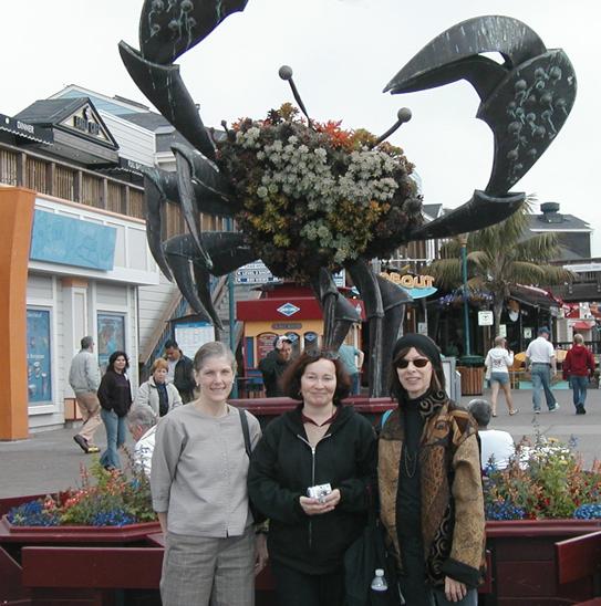 Andrea, MJP, me, crab