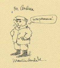 Sendak-Cat drawing