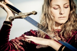 Girl w sword
