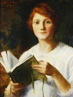 Marie_Danforth_Page Young Girl Reading 1914