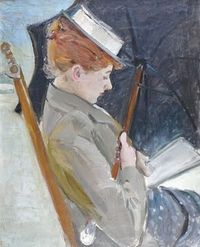 5 Paul Cesar Helleu (French artist, 1859-1927) Reader