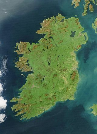 Ireland by satellite