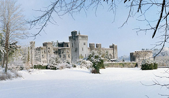 Ashford Castle in the snow