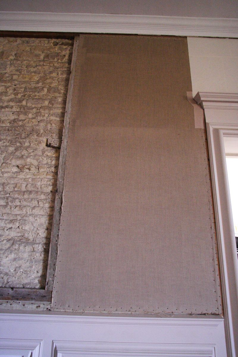 Canvas wall covering