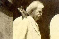 Mark twain and cat 2