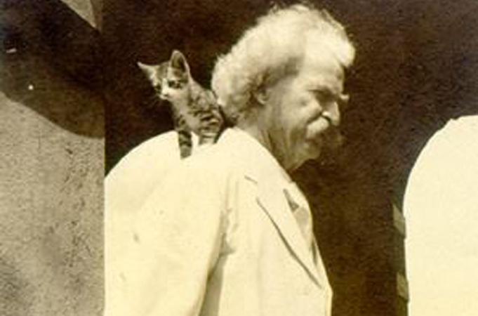 Mark twain and cat 2