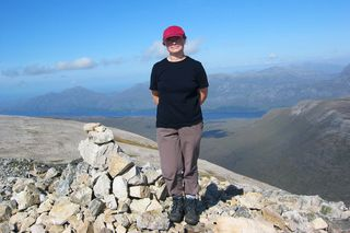 Nicola at the top of the mountain