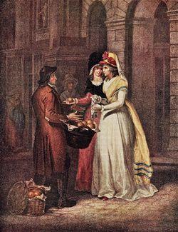 3 Francis Wheatley (English artist, 1747-1801) Cries of London 1792-1795 Sweet China Oranges, Sweet China