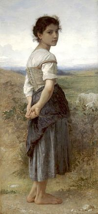 The-young-shepherdess-by-bouguereau-1885