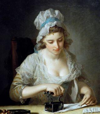 Henry Robert MorlandLaundry Maid Ironing 1785