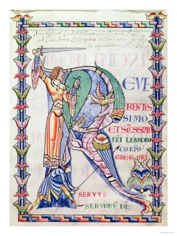 Chi ro initial 12th century