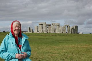 Q3537w Jo at Stonehenge