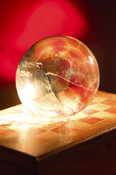 Crystal ball and board