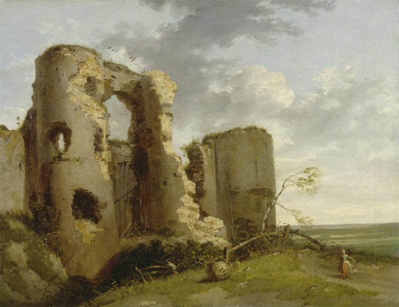 John_hamilton_mortimer_west_gate_of_pevensey_castle_w