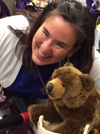 Kathy Lyons and Bear