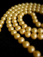 Golden pearls