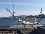 Viking sculpture  Reykjavik