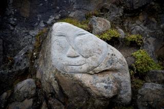 Stone and Man  Qaqortoq
