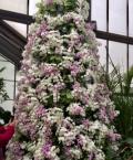 Purple and white Xmas tree
