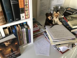 Andrea's desk