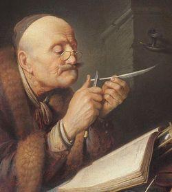 Scholar_sharpening_a_quill_pen