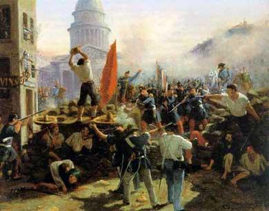 Barricade_rue_Soufflot_1848 horace Vernet