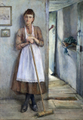 Wench Henry Meynell Rheam - A Maid Sweeping