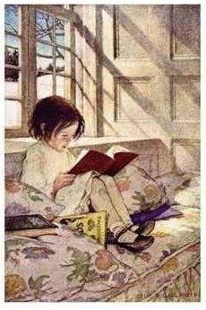 Girl reading jessewilcoxsmith
